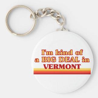Soy un poco una GRAN COSA en Vermont Llavero Redondo Tipo Pin