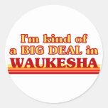 Soy un poco una GRAN COSA en Waukesha Etiquetas Redondas