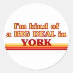 Soy un poco una GRAN COSA en York Pegatinas Redondas