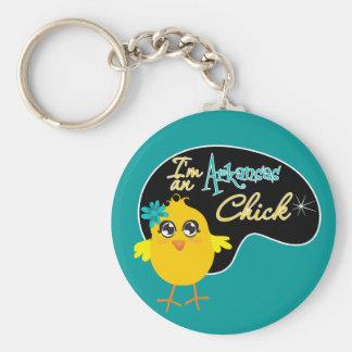 Soy un polluelo de Arkansas Llavero Redondo Tipo Pin
