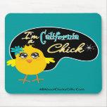 Soy un polluelo de California Alfombrillas De Raton