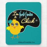 Soy un polluelo de Carolina del Norte Tapete De Ratones
