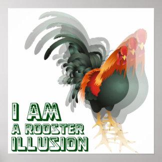 Soy un poster de la ilusión del gallo