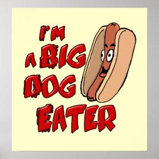 Soy un poster grande del comedor del perro