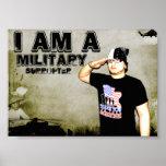 Soy un poster militar del partidario