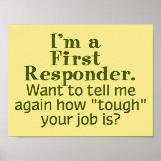 Soy un primer respondedor… poster