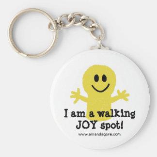 Soy un punto de la alegría que camina llavero redondo tipo pin