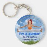 ¡Soy un quitter! (imagen adaptable) Llaveros Personalizados