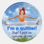 ¡Soy un quitter! (imagen adaptable) Pegatinas Redondas