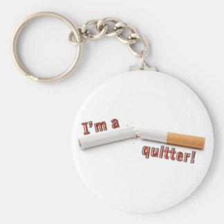 ¡Soy un quitter! Llavero Redondo Tipo Pin