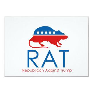 """Soy un R.A.T: Republicano contra el triunfo Invitación 5"""" X 7"""""""
