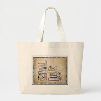 soy un ratón de biblioteca bolsa tela grande