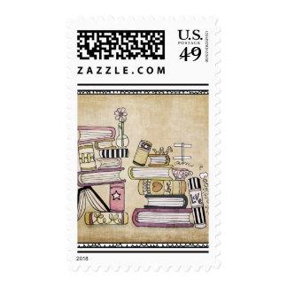 soy un ratón de biblioteca timbre postal
