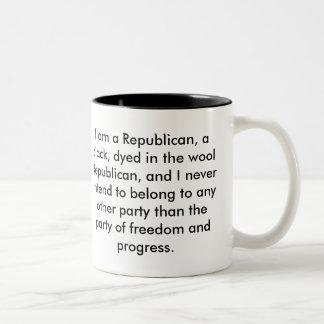 Soy un republicano taza de café de dos colores