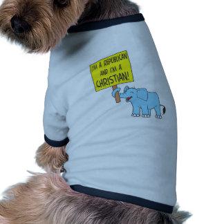Soy un republicano y un cristiano camiseta de perrito