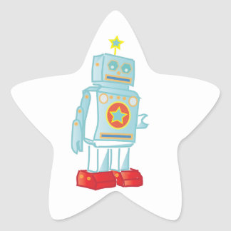 Soy un robot pegatina en forma de estrella
