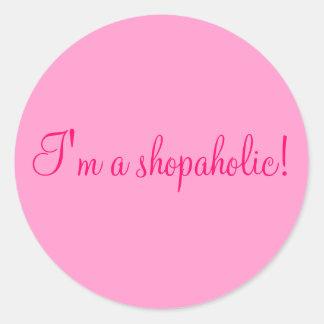¡Soy un shopaholic Etiquetas