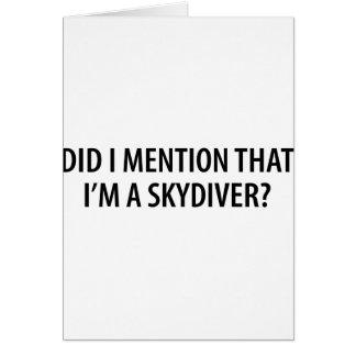 Soy un Skydiver Tarjetón
