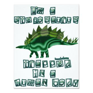 Soy un Stegosaurus Invitación 10,8 X 13,9 Cm