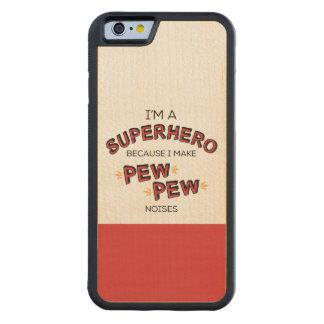 Soy un super héroe porque hago ruidos del BANCO Funda De iPhone 6 Bumper Arce