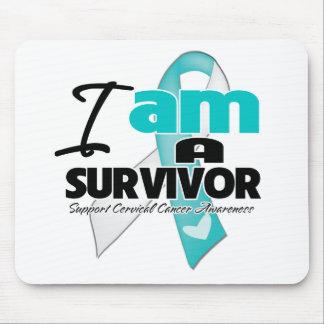 Soy un superviviente - cáncer de cuello del útero mouse pad