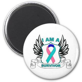 Soy un superviviente - cáncer de tiroides imán redondo 5 cm