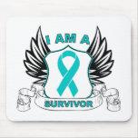 Soy un superviviente - cáncer ovárico tapetes de ratones