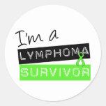 Soy un superviviente del linfoma pegatinas redondas