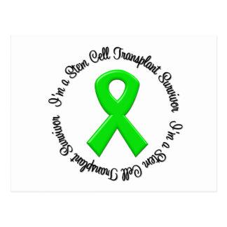 Soy un superviviente del trasplante de la célula tarjeta postal