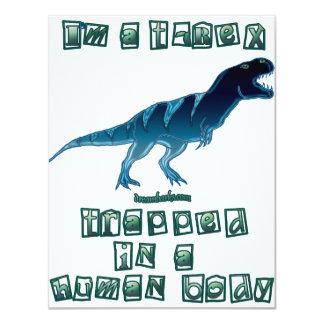 Soy un T-Rex Invitación 10,8 X 13,9 Cm