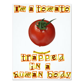 Soy un tomate… invitación 10,8 x 13,9 cm
