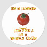 Soy un tomate… pegatina redonda