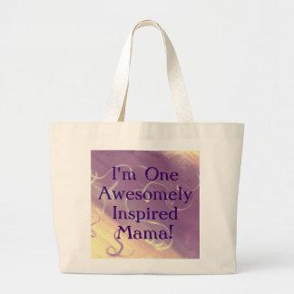 Soy un tote impresionantemente inspirado de la mam bolsa tela grande