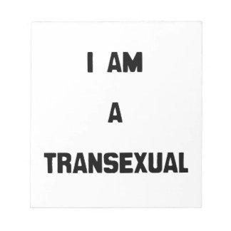 SOY UN TRANSEXUAL BLOC DE NOTAS