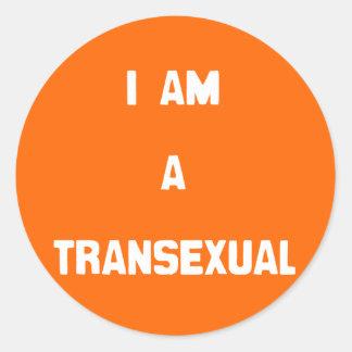 SOY UN TRANSEXUAL - .PNG ETIQUETAS REDONDAS