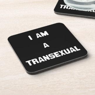 SOY UN TRANSEXUAL - .PNG POSAVASOS DE BEBIDA