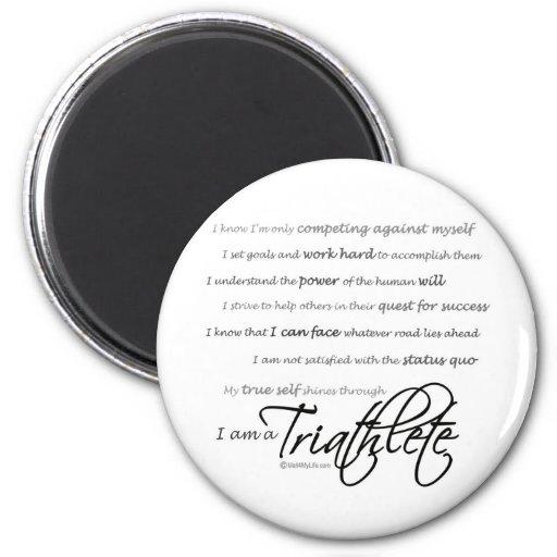 Soy un Triathlete - escritura Imán Para Frigorifico