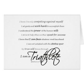 Soy un Triathlete - escritura Tarjeta De Felicitación