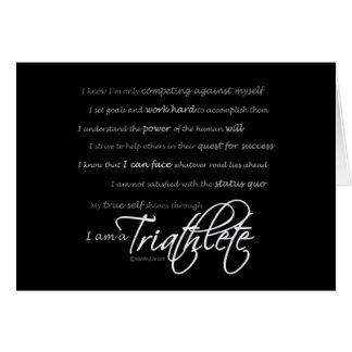 Soy un Triathlete - escritura Tarjetas