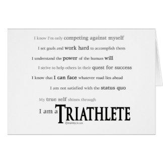 Soy un Triathlete Tarjeta De Felicitación