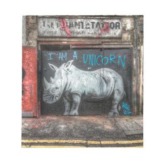 Soy un unicornio, pintada de Shoreditch (Londres) Blocs
