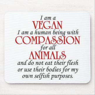 Soy un vegano Mousepad Tapetes De Raton