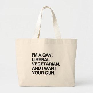 Soy un vegetariano gay, liberal bolsas de mano