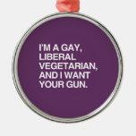 Soy un vegetariano gay, liberal ornamentos para reyes magos