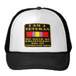Soy un veterano que mi juramento del alistamiento  gorra