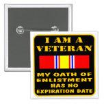 Soy un veterano que mi juramento del alistamiento  pin