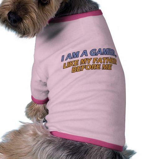 Soy un videojugador, como mi padre antes de mí camiseta con mangas para perro