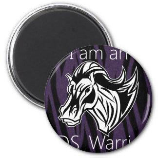 Soy un warrior.png imán redondo 5 cm