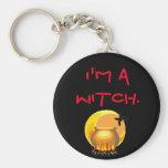 Soy una bruja llavero redondo tipo pin
