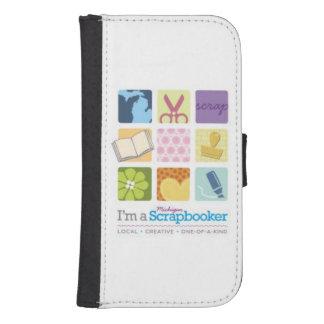 Soy una caja del teléfono de Michigan Scrapbooker Fundas Tipo Billetera Para Galaxy S4
